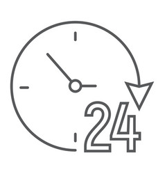twenty four hour thin line icon e commerce vector image