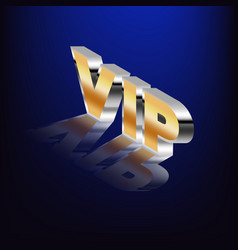 vip word highlighted on a blue background vector image
