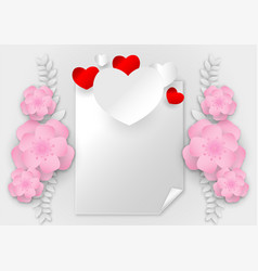 abstract heart shape with copy space on white vector image