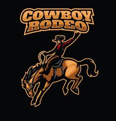 cowboy rodeo vector image vector image