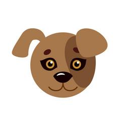 dog animal carnival mask favorite pet festival vector image