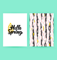 hello spring 80s style poster vector image vector image