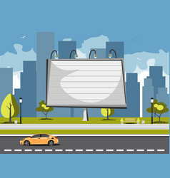 large billboards with copy space text vector image