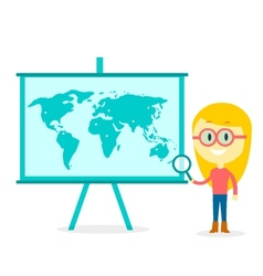 Searching All Over The World vector image vector image