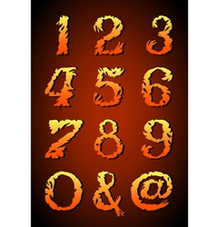 Vintage alphabet set on background vector image vector image