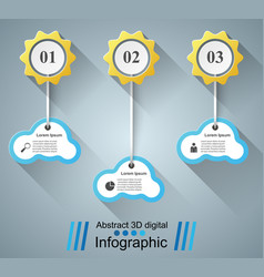 business infographics sun weather cloud icon vector image