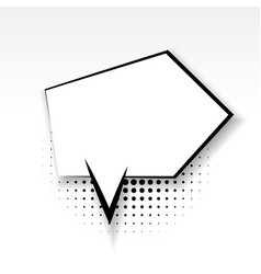 comic arrow empty paper babble soft shadow vector image