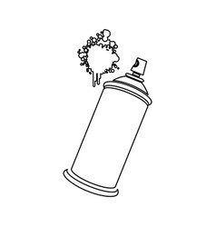 figure aerosol sprays with a stain icon vector image vector image