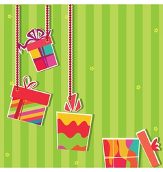 gift boxes greeting card vector image