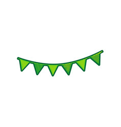 holiday flags garlands sign lemon vector image vector image