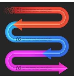 Infographics design template Arrows vector image