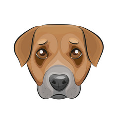 Cute dog logo vector