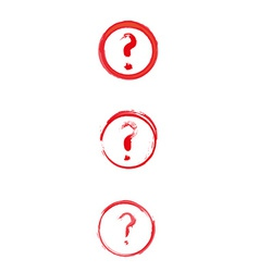 red danger sign with question mark vector image