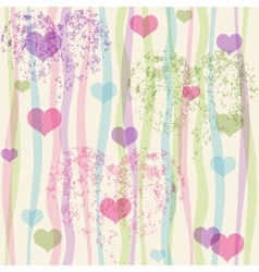 Seamless valentine pastel grunge pattern vector image vector image