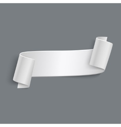 3d Curved Paper Banner Isolated on Grey vector image vector image