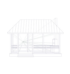 Architectural sketch vector image