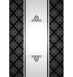 black and white vintagebackground vector image vector image