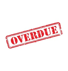Overdue rubber stamp vector image vector image