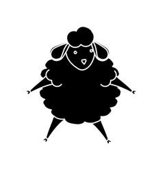 sheep sleeping cartoon vector image vector image