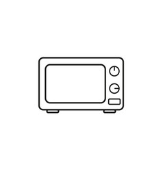 a microwave icon vector image