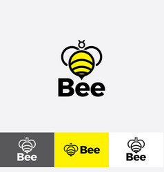 abstract bee icon with modern minimalist style vector image