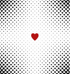 Abstract heart pattern background design vector