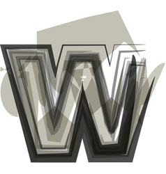 abstract letter w vector image