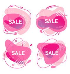 abstract trendy geometric sale design vector image