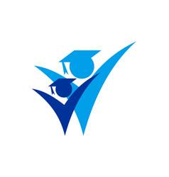 academic logo icon concept vector image