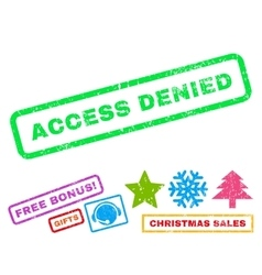 Access Denied Rubber Stamp vector