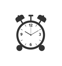 Alarm clock icon isolated wake up get up concept vector
