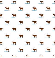 alaska deer pattern seamless vector image