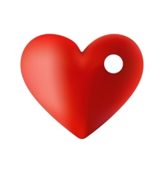 an inside red heart to the vector image