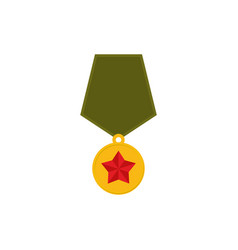 Army medal isolated military reward on white vector