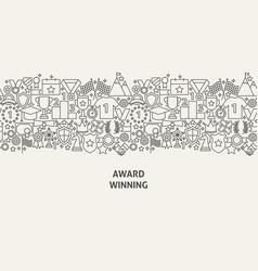 Award banner concept vector