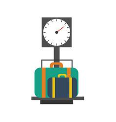 Baggage scales vector