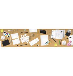 banner desktop workplace vector image