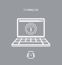 Best laptop awards - flat minimal icon vector