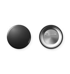 Blank button badge vector image
