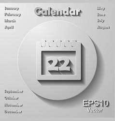 Calendar icons set vector