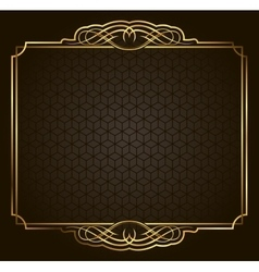 Calligraphic Retro gold frame on background vector