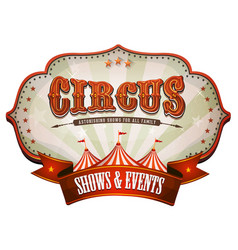 Carnival circus banner with big top vector
