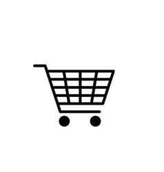 Cart icon retail symbol wagon vector