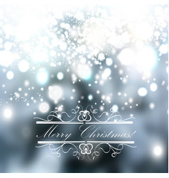 christmas blurred background with sparkles vector image