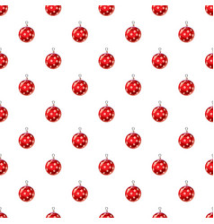 Christmas red ball pattern vector