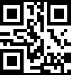 Classic qr code sample for smartphone scanning vector