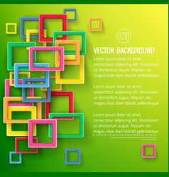 colorful square shapes background vector image