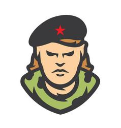 cuba communist revolutionary cartoon vector image