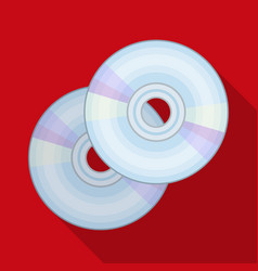Dvd discsmaking movie single icon in flat style vector