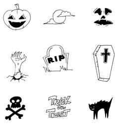 Element doodle art Halloween vector image